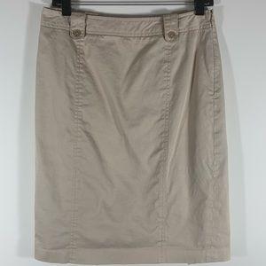 Ann Taylor Brown Khaki Lined Women's Skirt Size 6